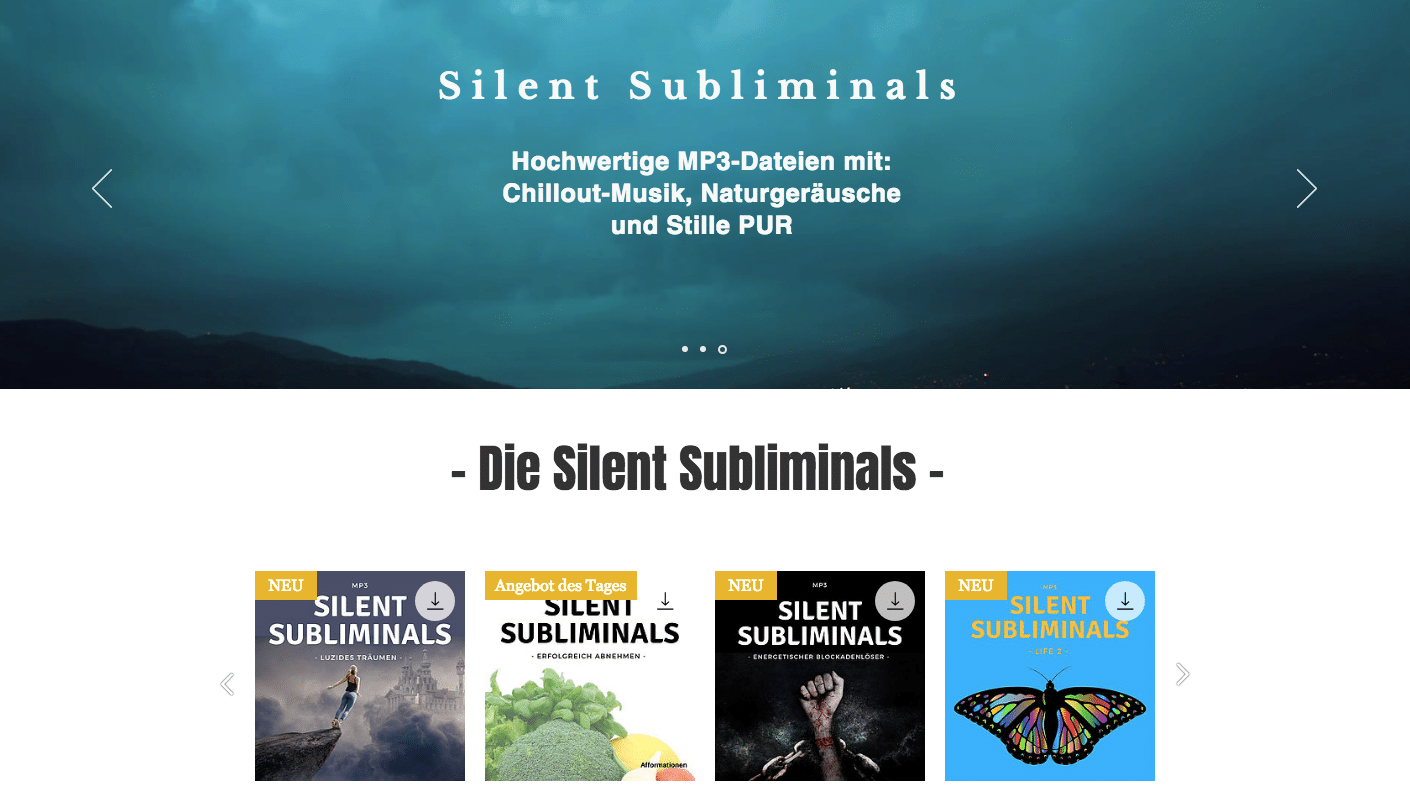 Silent Subliminals Shop